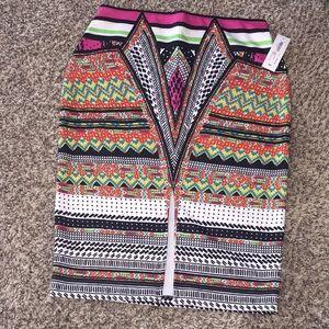 Beautiful Multi-color Midi Skirt